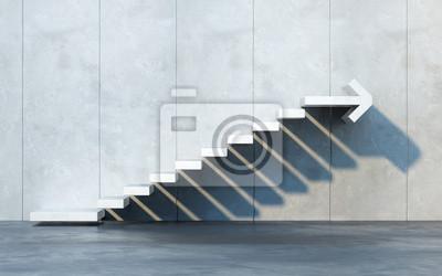 Naklejka stairs going  upward