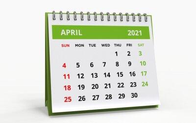Naklejka Standing Desk Calendar April 2021