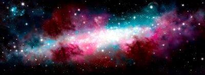 Naklejka Star nebula birth of a galaxy. The birth of the galaxy. Shining stars. Star nebula. Cluster of stars. The night starry sky. Space background. Spase. Universe