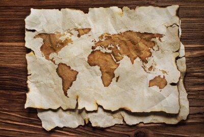 Naklejka Stara mapa