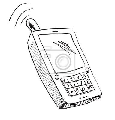 Stara szkoła ikona telefonu komórkowego