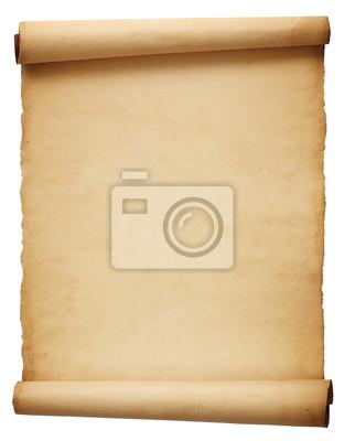 Naklejka Stare antyczne przewijania papieru