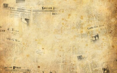 Naklejka Stare gazety w tle