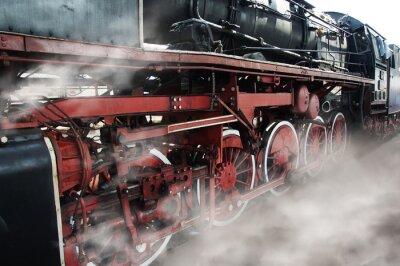Naklejka Stare koła lokomotywy