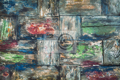 Stare kolorowe tło drewna teak biurko