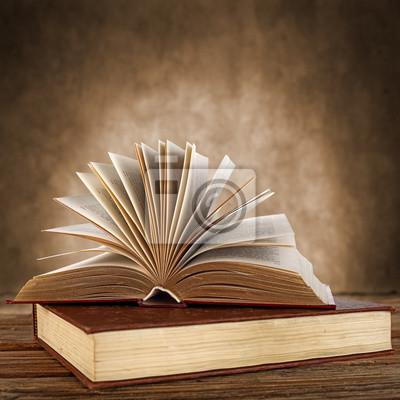 Naklejka stare książki
