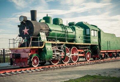Naklejka stare lokomotywy parowe z 20 wieku
