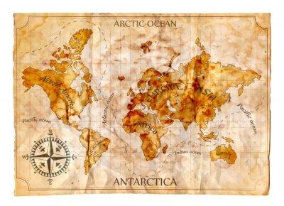 Naklejka Stare mapy