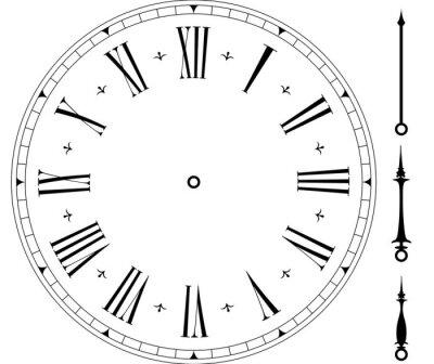 Naklejka Stare tarczy zegara