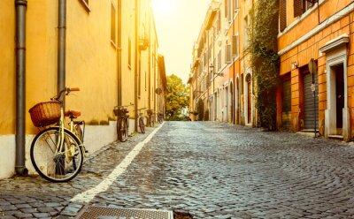 Naklejka Stare ulicy w Rzymie, Włochy