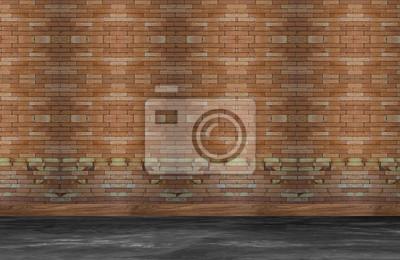 Stare wnętrze pokoju z cegły ściany