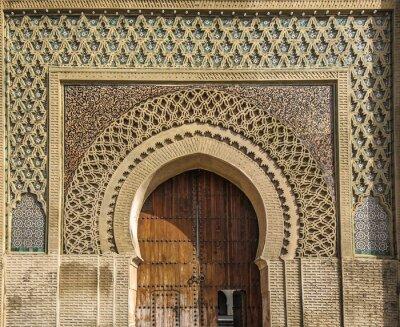 Naklejka Starożytne bramy w Meknes, Maroko