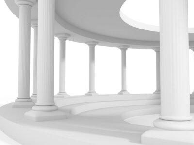 Naklejka starożytnego stylu architektury kolumny wzór tła