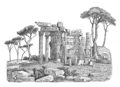 Naklejka Starożytny grecki kolumny ilustracji