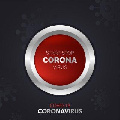 Start-stop coronavirus illustration