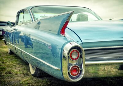 Naklejka Stary amerykański samochód w stylu vintage