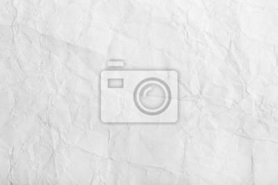 Naklejka Stary biały zmięty arkusz papieru tekstury tła