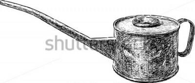 Naklejka stary miedziany czajnik