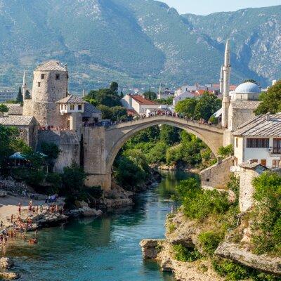 Naklejka Stary most w Mostarze