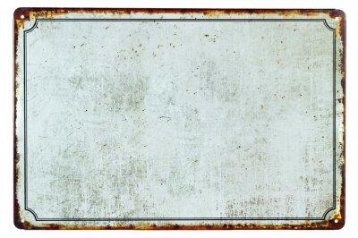 Naklejka Stary pusty zardzewiały metalowy znak z tłem kopii przestrzeni dla tekstu