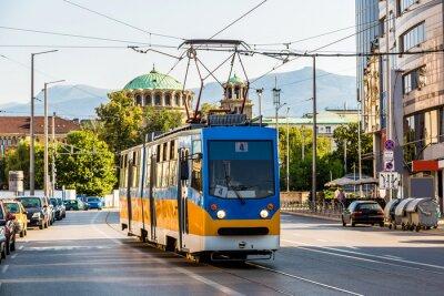 Naklejka Stary tramwaj w Sofii