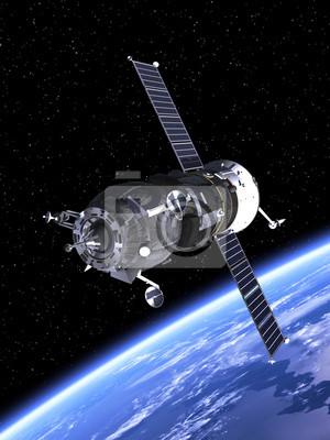 """Statek kosmiczny """"Progress"""" orbicie Ziemi"""