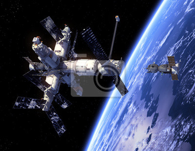 "Statek kosmiczny ""Sojuz"" A Space Station"