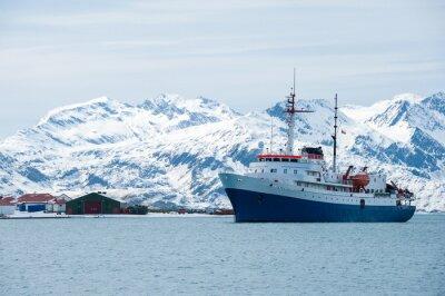 Naklejka Statek na Antarktydzie