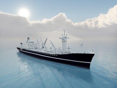 Naklejka Statek Towarowy