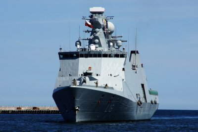 Naklejka Statek w Gdyni