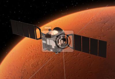 """Statki kosmiczne """"Mars Express"""", orbitach planety Mars."""
