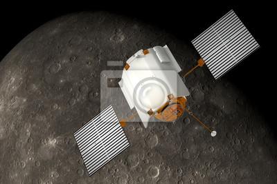 "Statki kosmiczne ""Messenger"" orbitach Merkurego"