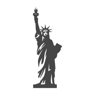 Naklejka Statua Wolności ikona - ilustracja