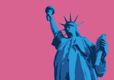 Naklejka Statue of Liberty - New York - symbole, Américain - décoration - déco - fond