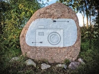 Stein als Wegweiser