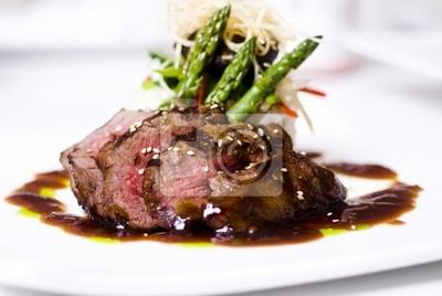 Naklejka stek smakoszy mignon pięć restauracji gwiazdy .
