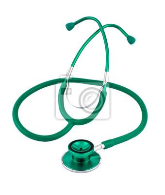 Stetoskop samodzielnie na białym tle
