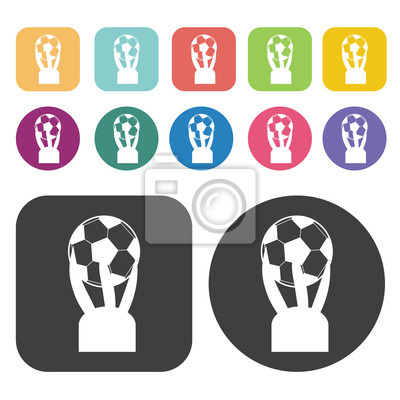 Stick figure jumping with ball sign icon. Football soccer icon s