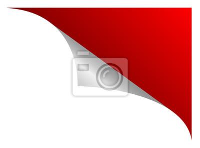 stiker mit einer Roten ecke
