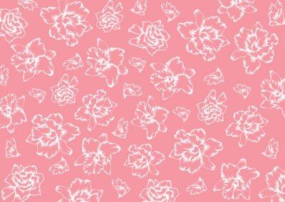 Naklejka Storczyki kwiaty wzór
