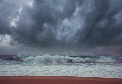 Naklejka Storm weather on sea