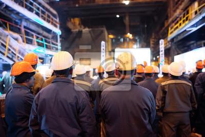 Naklejka Strajk pracowników w przemyśle ciężkim.