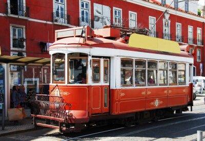 Naklejka Strassenbahn w Lizbonie