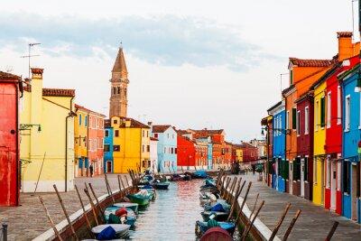 Naklejka Street Scene w Burano Włoszech