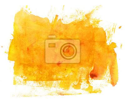 Naklejka Streszczenie artystycznych jasne tło tekstury żółty akwarela