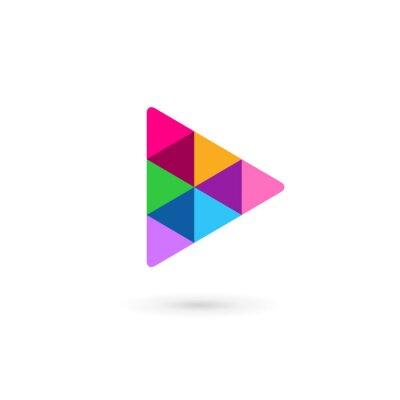 Naklejka Streszczenie biznes ikona logo szablon ze strzałką