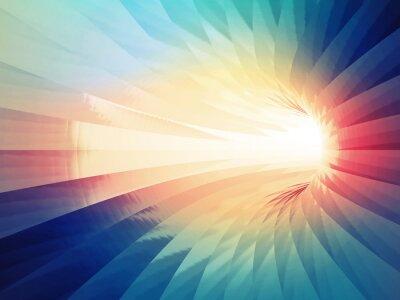 Naklejka Streszczenie cyfrowych tle. Kolorowe wygięty tunel