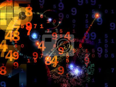 Naklejka Streszczenie cyfrowych tle Świat