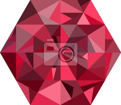Streszczenie czerwony diament na białym tle.