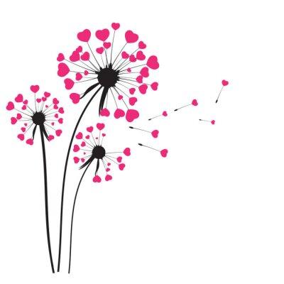 Naklejka Streszczenie Dandelion tle ilustracji wektorowych